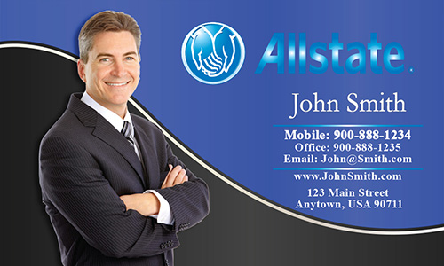 Blue Allstate Business Card - Design #201162