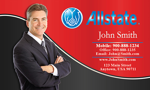 Red Allstate Business Card - Design #201163