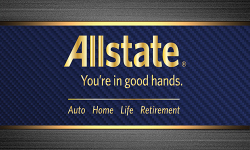 Blue Allstate Business Card - Design #201172