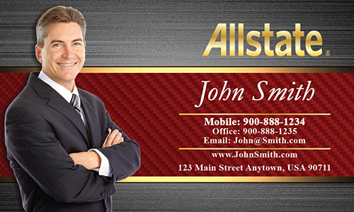 Red Allstate Business Card - Design #201173