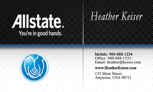 Black Allstate Business Card - Design #201181