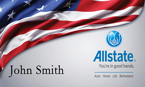 Blue Allstate Business Card - Design #201191