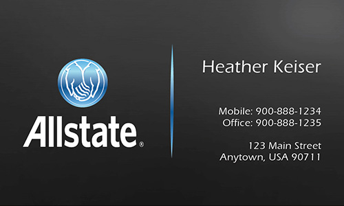 Black Allstate Business Card - Design #201202