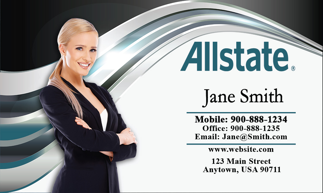 Usaa Contact Us >> Insurance Agent Business Card | Allstate Agents Card Designs