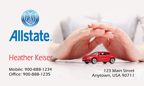 White Allstate Business Card - Design #201221