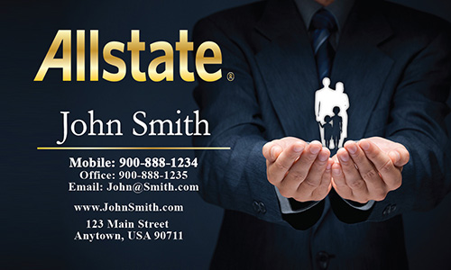 Black Allstate Business Card - Design #201231