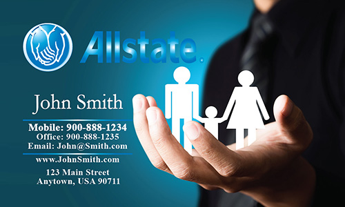 Blue Allstate Business Card - Design #201241