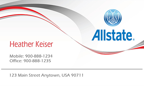 White Allstate Business Card - Design #201251