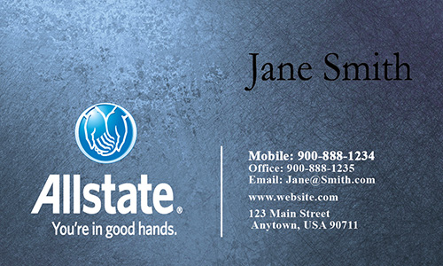 Blue Allstate Business Card - Design #201271