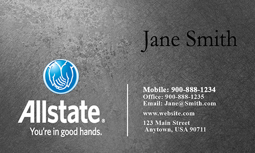 Gray Allstate Business Card - Design #201272