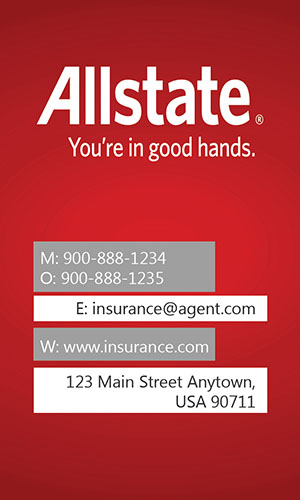 Red Allstate Business Card - Design #201283