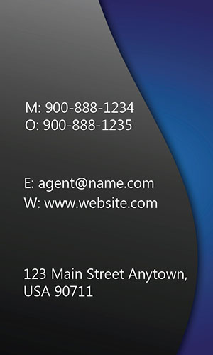 Blue Allstate Business Card - Design #201292