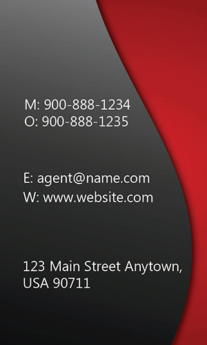 Red Allstate Business Card - Design #201293