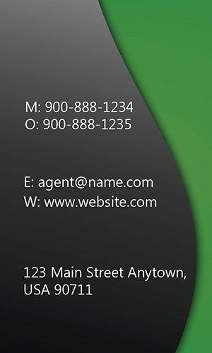 Green Allstate Business Card - Design #201294