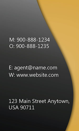 Yellow Allstate Business Card - Design #201295
