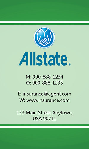 Green Allstate Business Card - Design #201303