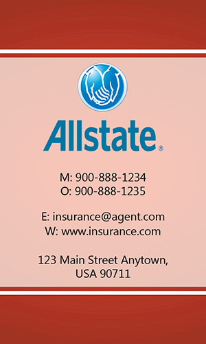 Red Allstate Business Card - Design #201304