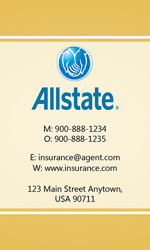 Yellow Allstate Business Card - Design #201305