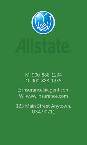 Green Allstate Business Card - Design #201312