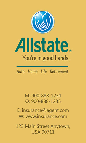 Yellow Allstate Business Card - Design #201315