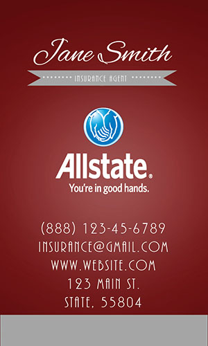 Red Allstate Business Card - Design #201323