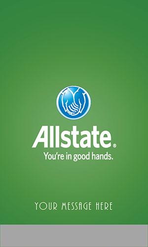 Green Allstate Business Card - Design #201324