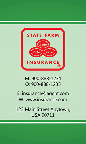 insurance agent business card allstate agents card designs. Black Bedroom Furniture Sets. Home Design Ideas