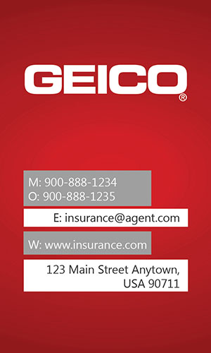Red Geico Business Card - Design #203012