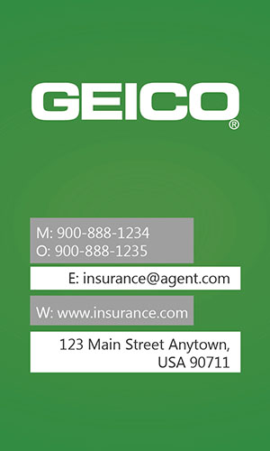 Green Geico Business Card - Design #203013