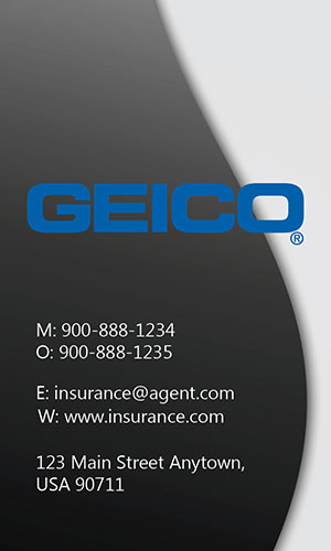 White Geico Business Card - Design #203021