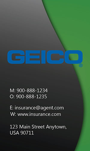 Green Geico Business Card - Design #203022