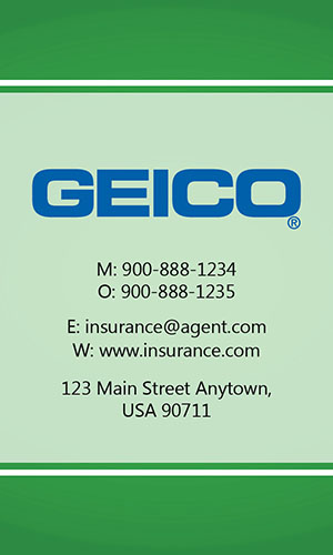Green Geico Business Card - Design #203031