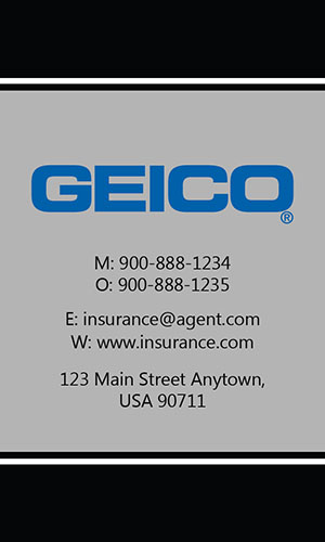Black Geico Business Card - Design #203032