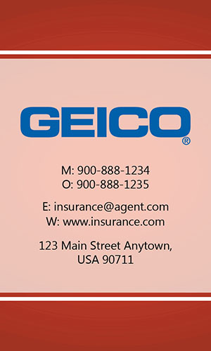 Red Geico Business Card - Design #203034