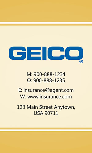 Yellow Geico Business Card - Design #203035