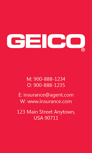 Red Geico Business Card - Design #203041
