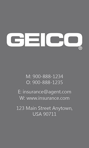 Gray Geico Business Card - Design #203042
