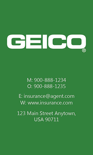 Green Geico Business Card - Design #203043