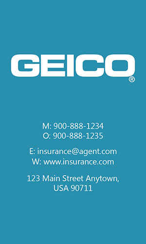 Blue Geico Business Card - Design #203045