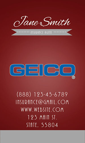 Red Geico Business Card - Design #203053