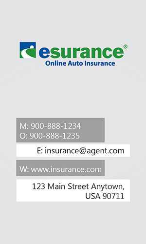 White Esurance Business Card - Design #204011