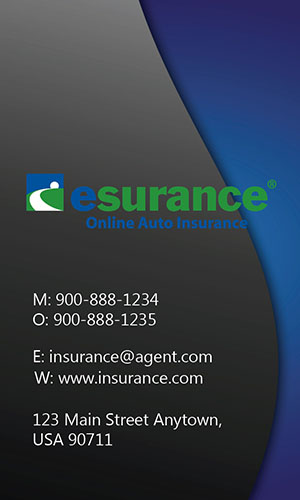 Blue Esurance Business Card - Design #204022