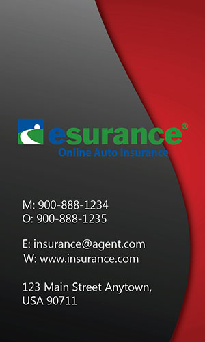 Red Esurance Business Card - Design #204024
