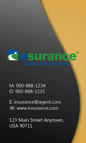 Yellow Esurance Business Card - Design #204025