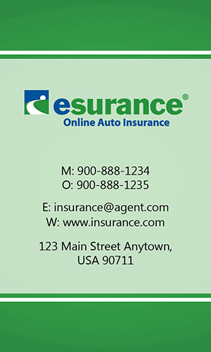 Green Esurance Business Card - Design #204031