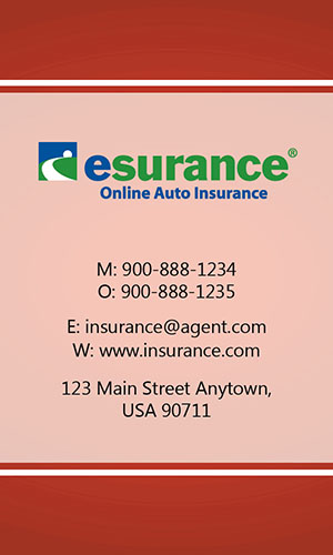 Red Esurance Business Card - Design #204033