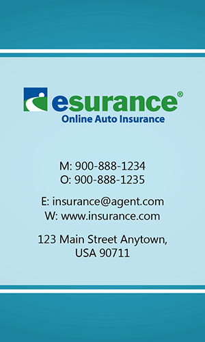 Blue Esurance Business Card - Design #204034