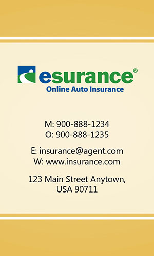 Yellow Esurance Business Card - Design #204035