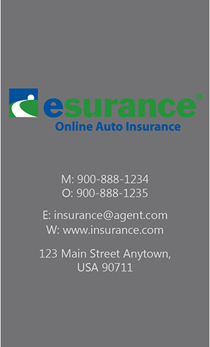 Gray Esurance Business Card - Design #204041