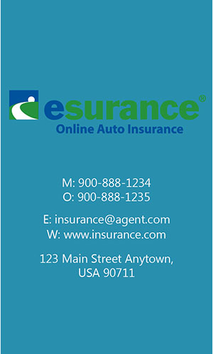 Blue Esurance Business Card - Design #204042